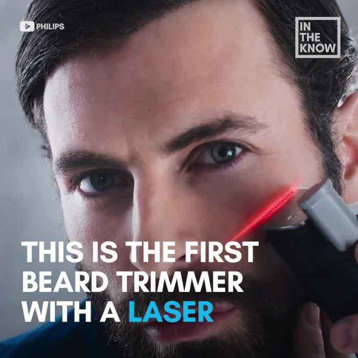 Beard trimmer uses a laser beam to give your facial hair the perfect shape