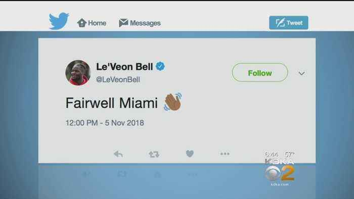 Steelers RB Le'Veon Bell Tweets He's Leaving Miami