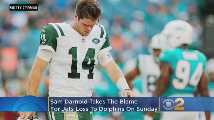 Darnold Shoulders Blame For Jets' Brutal Showing In Miami: 'I Played Stupid Football'
