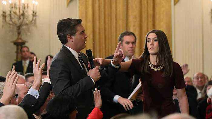 People are claiming video shared by Sarah Sanders of Jim Acosta was doctored — here's why