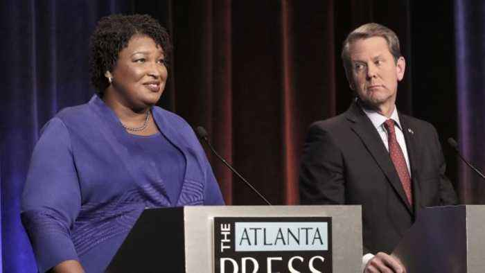 Abrams Won't Accept Kemp Victory Claim in Georgia Gov. Race