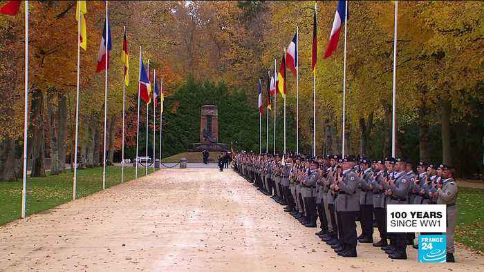 Macron and Merkel mark armistice centenary at Compiègne