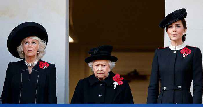 Why Meghan Markle Didn't Stand with the Queen, Kate and Camilla at Remembrance Ceremony