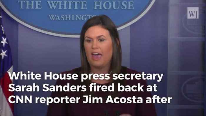 Sarah Sanders Responds to CNN Lawsuit, Shreds Showboat Acosta