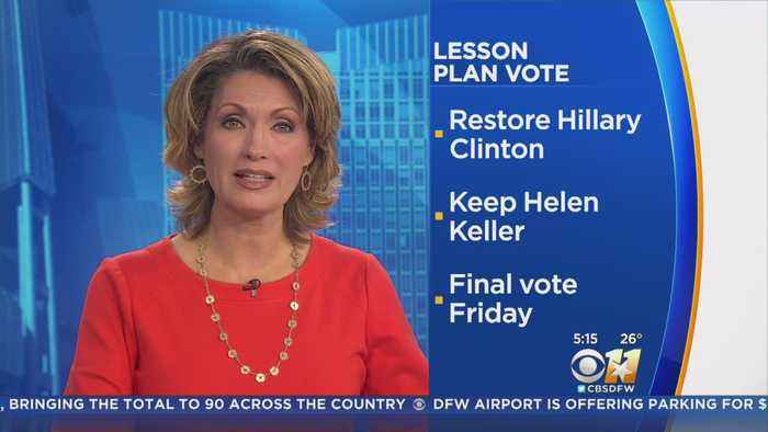 Board Of Education Votes To Restore Lessons On Clinton, Keller