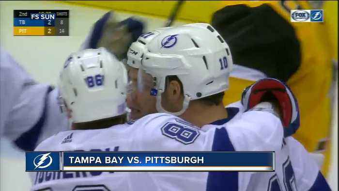 Brayden Point scores 3 power play goals in 1:31, Tampa Bay Lightning beat Pittsburgh Penguins 4-3