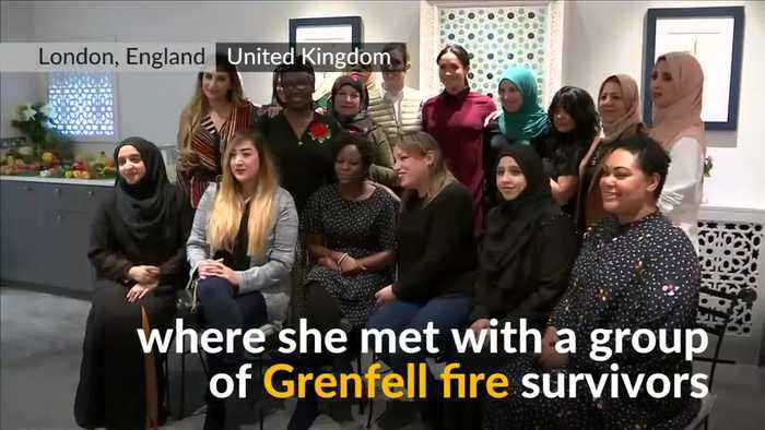 Meghan Markle meets Grenfell fire survivors in community kitchen