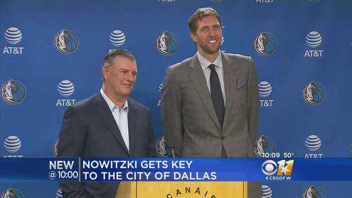 Nowtizki, Rawlings Joke About 'Perks' With Key To City