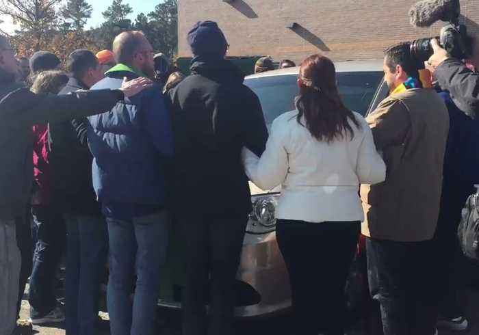 Protesters Surround ICE Van in Morrisville