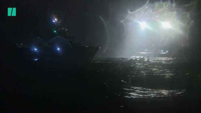Migrants Rescued Off The Coast Of Kent