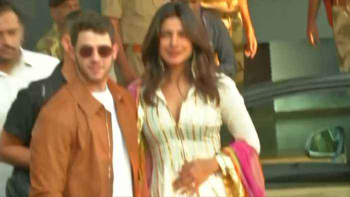 Nick Jonas, Priyanka Chopra arrive in Indian desert city for wedding