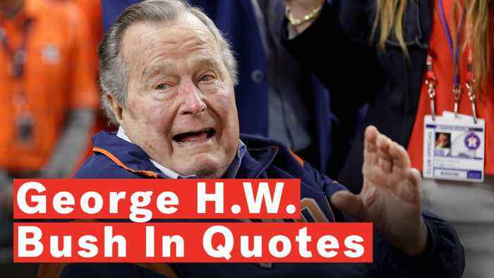 Former U S President George H W Bush In Quotes One News Page Video