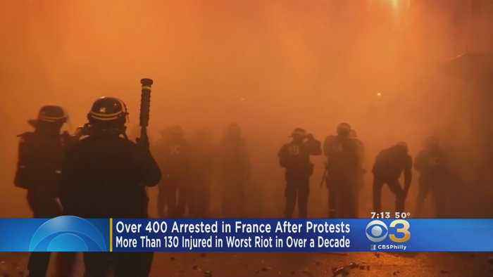 Over 400 Arrested In France After Protests During Worst Riot In Over Decade