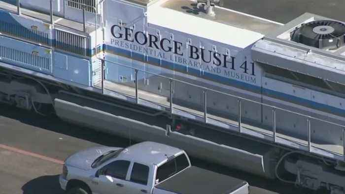 Special train ready to receive Bush in Houston