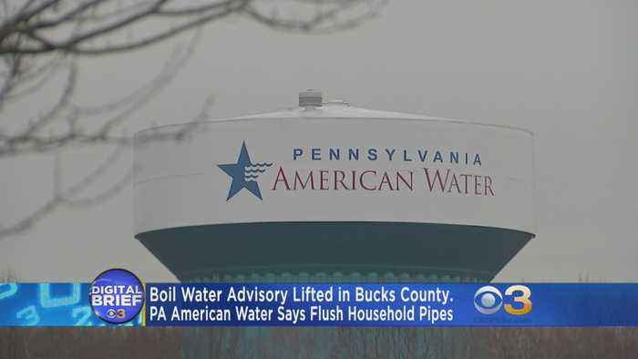 Boil Water Advisory Lifted In Bucks County