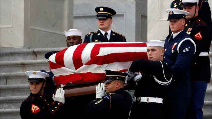 Funeral Held At National Cathedral For George H.W. Bush