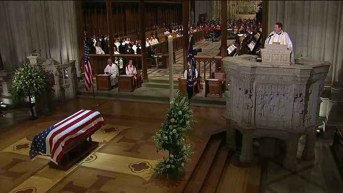 Rev. Dr. Russell Levenson Jr. delivers final homily to President George H.W. Bush