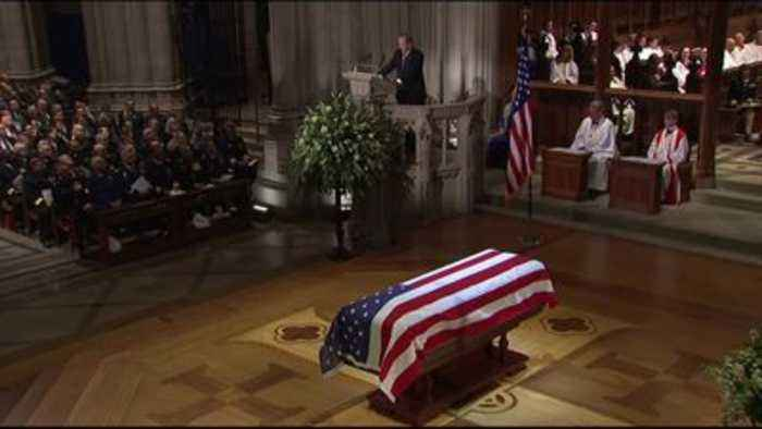Dignified exit for George H W Bush at a funeral where politics took second place