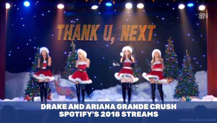 Drake And Ariana Take Over Spotify Stream In 2018