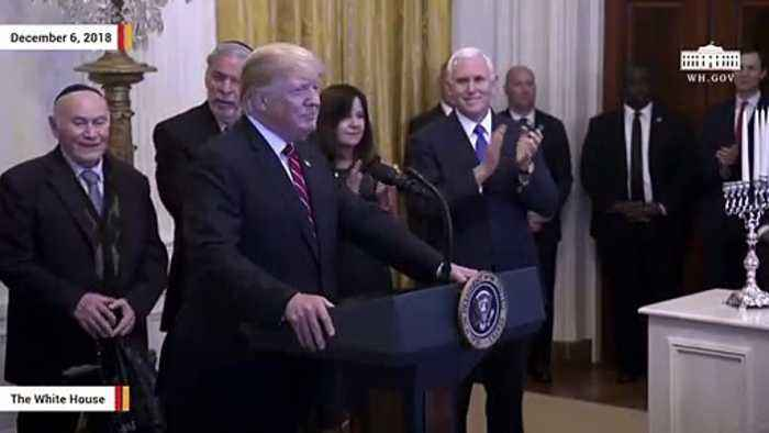 'Four More Years' Chant Erupts During Trump's Hanukkah Remarks