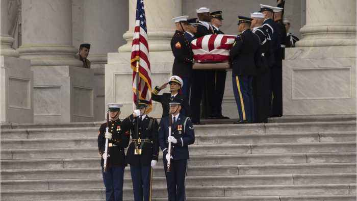 President George H.W. Bush Arrives At Burial