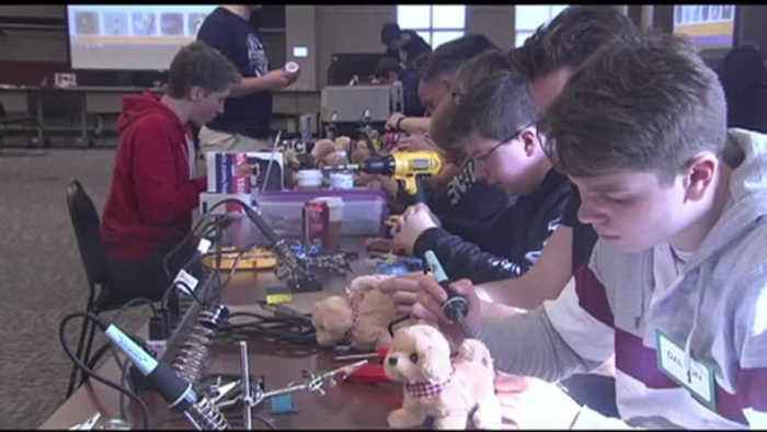 VIDEO: Student-elves create adaptive toys for kids with disabilities