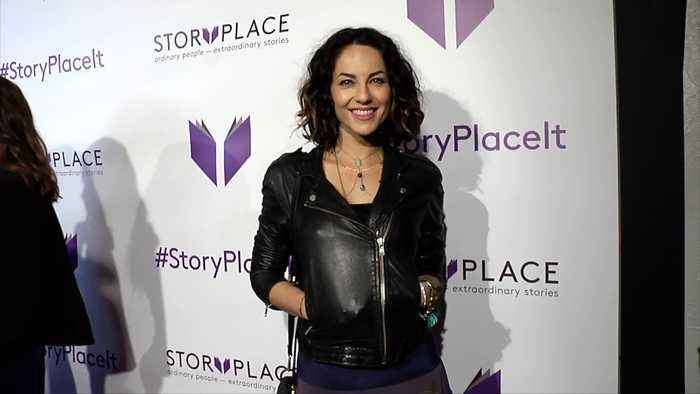 """Barbara Mori """"StoryPlace"""" Official App Launch Party Purple Carpet"""