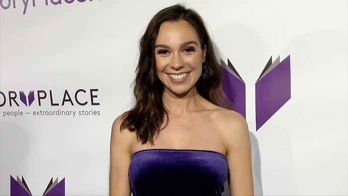 """Molly Campos """"StoryPlace"""" Official App Launch Party Purple Carpet"""