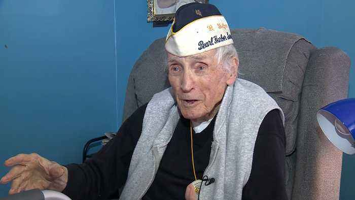 Pearl Harbor survivor honored with surprise party