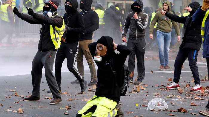 Police arrest around 400 yellow vest protesters in Brussels