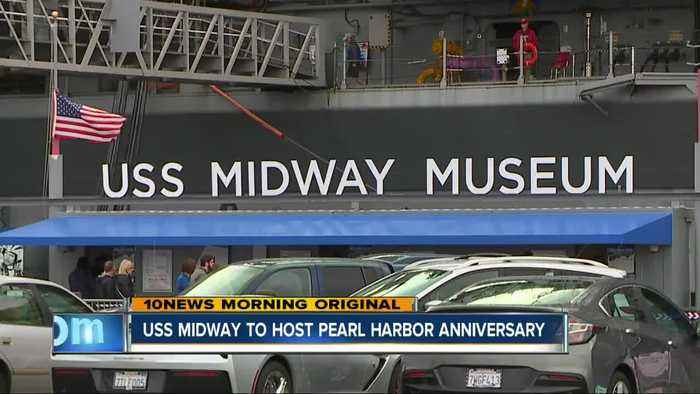 USS Midway honors Pearl Harbor survivors on 77th Anniversary of attack