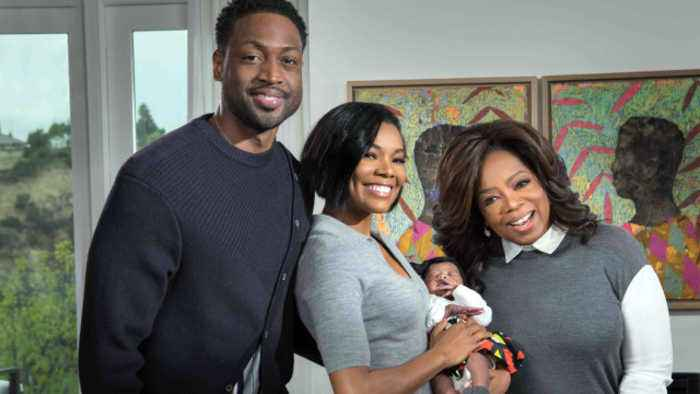 Oprah Meets Gabrielle Union and Dwyane Wade's Baby Daughter, Kaavia