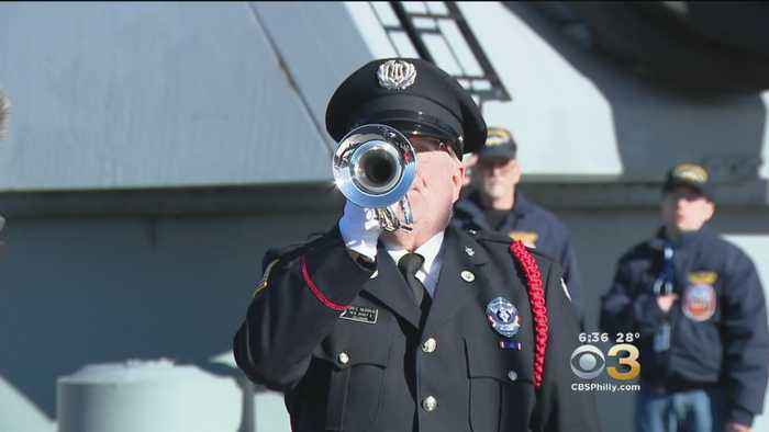 77th Anniversary Of Pearl Harbor Remembered At Battleship New Jersey