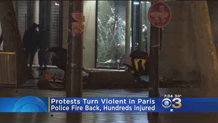 Hundreds Injured In Violent Protests In Paris