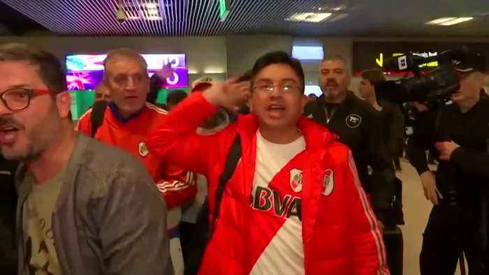 River Plate and Boca fans land in Madrid for Copa Libertadores final