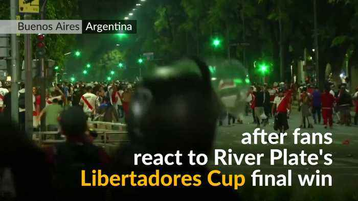 Riot police deployed as Argentinian soccer celebrations turn violent