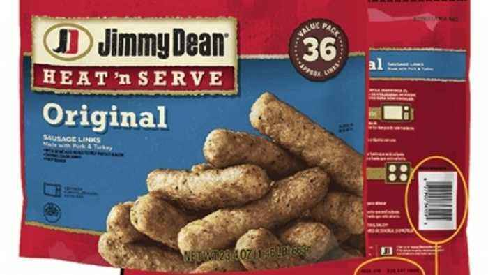 Jimmy Dean Recalls Thousands of Pounds of Sausage Products