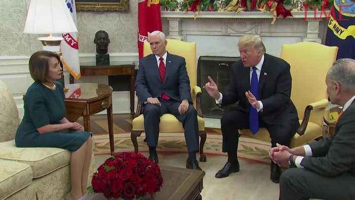 President Trump Meets With Nancy Pelosi and Chuck Schumer at the Oval Office