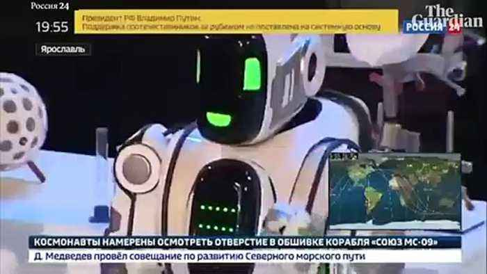 Robot Debuted At Russian Technology Forum Was Really Just A Guy In A Robot Suit