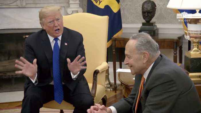 Trump Openly Fights With Nancy Pelosi And Chuck Schumer Over Border Security