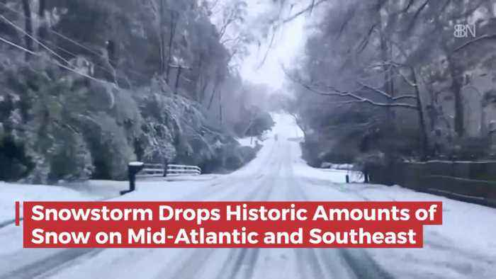 Wow: Huge Snow Storm Across The Mid Atlantic And Southeast
