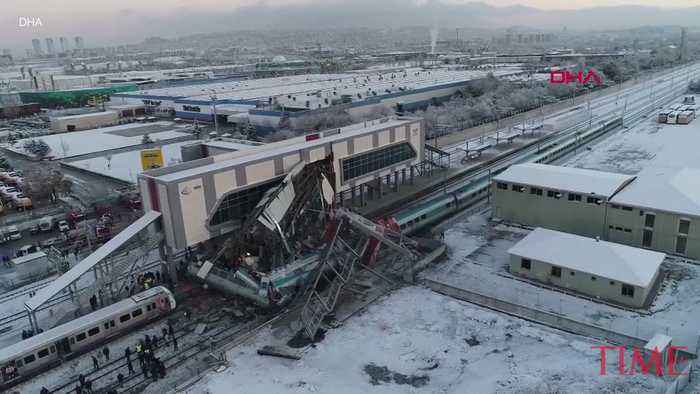 A High-Speed Train Crash in the Turkish Capital Has Killed 4 and Injured 43