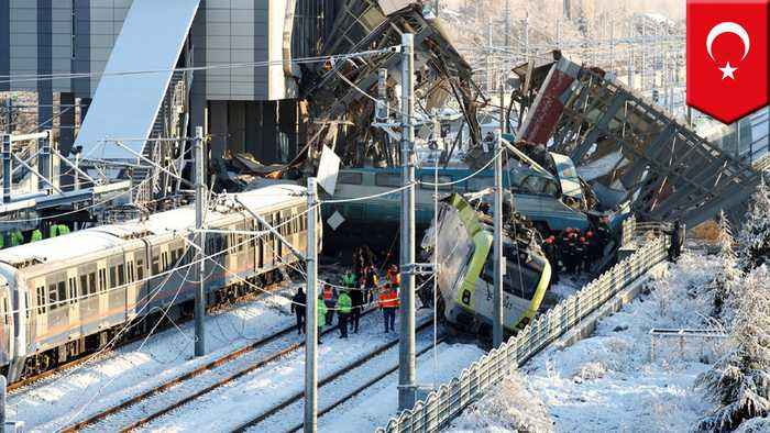 Turkey train crash leaves at least 9 dead, dozens injured