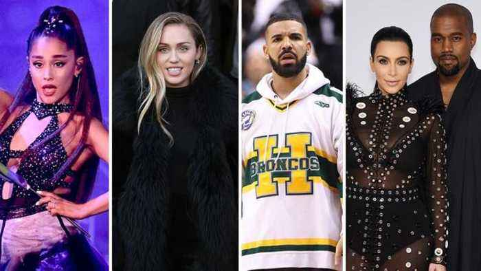 Kim Kardashian, Miley Cyrus and Ariana Grande Jump In on Kanye West and Drake's Feud