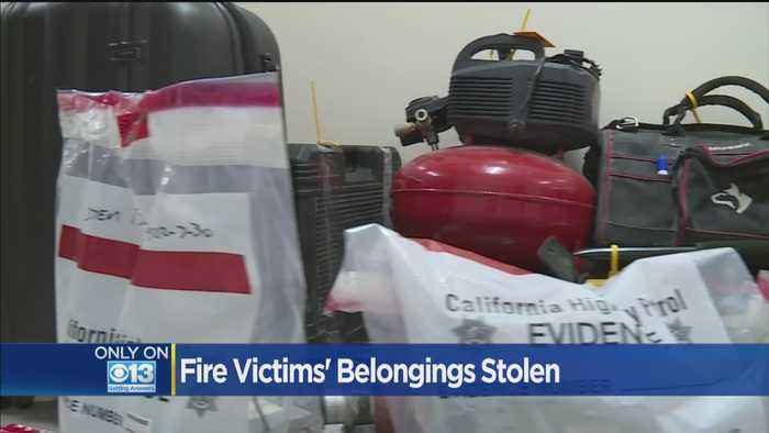 CHP Recovers Items Stolen From Camp Fire Victims