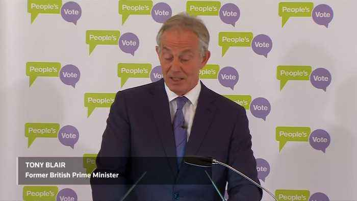 Former British PM Blair says 2nd Brexit referendum over 50 percent likely