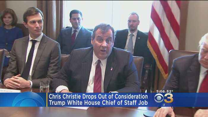Christie Drops Out Of White House Chief Of Staff Job