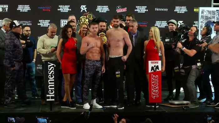 Canelo and Fielding weigh-in ahead of Saturday fight