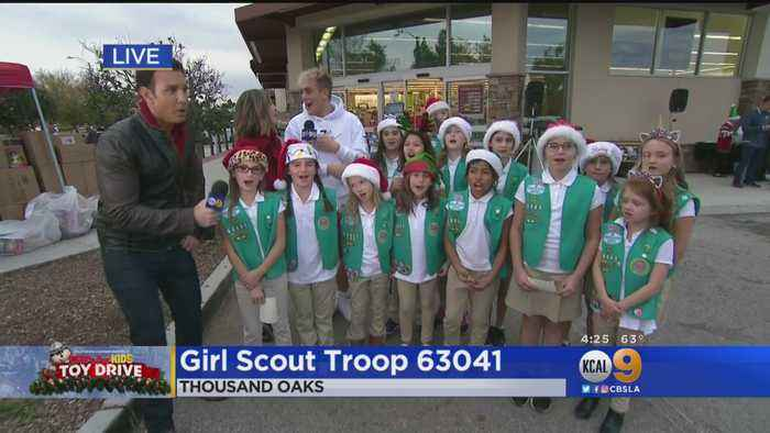 CHiPs For Kids: Internet Sensation Jake Paul Carols With Girl Scouts At Thousand Oaks Toy Drive