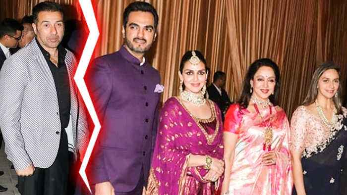 Sunny Doel And Hema Malini Family Arrive Separately At Isha Ambani Wedding Reception